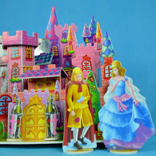 佳廷模型 親子DIY紙模型立體勞作3D立體拼圖專賣店 灰姑娘童話故事 精細禮盒版 CHARMLAND邦維