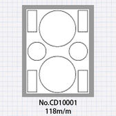 (5包)OGI A4光碟貼紙小圓內徑15mm,50張共100枚,可直接A4輸出 No.CD10001