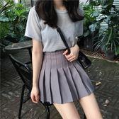 百褶裙夏季韓國學院風高腰百褶半身裙女素色修身顯瘦百搭短裙女 愛麗絲精品