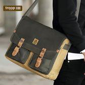 【TROOP】傳統簡約HERITAGE單肩包/TRP0418GC(綠駝色)