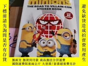 二手書博民逛書店MINIONS:THE罕見ROAD TO VILLAIN-CON (STICKER BOOK)Y246305