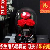 母親節禮物進口永生花康乃馨花束送媽媽實用絲巾生日禮物真花高檔 全館免運DF