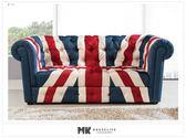 【MK億騰傢俱】CS683-01布朗英國旗三人沙發