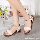 平底低跟韓版涼鞋女串珠羅馬鞋休閒學生沙灘鞋民族風 檸檬衣舍