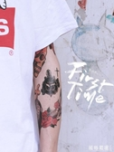 紋身貼 貼男花臂 刺青 潮 女持久手臂歐美oldschool半永久