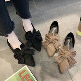 豆豆鞋單鞋女春款百搭平底蝴蝶結豆豆鞋仙女溫柔新款休閒女鞋潮 可然精品