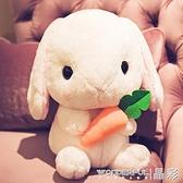 玩偶垂耳兔毛絨玩具小兔子公仔可愛睡覺抱枕玩偶小號女孩兒童生日禮物LX 晶彩