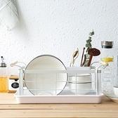 簡約白碗盤瀝水架附盤