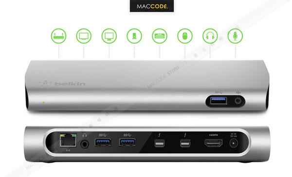 Belkin Thunderbolt 2 Express Dock HD 多功能 擴充底座 贈Thunderbolt線 USB 3.0