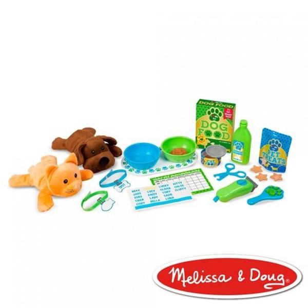 《 美國 Melissa & Doug 》角色扮演-寵物美容照顧遊戲組 / JOYBUS玩具百貨