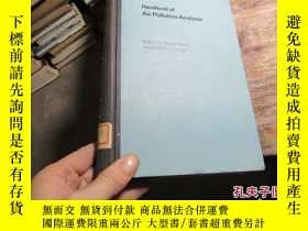 二手書博民逛書店handbook罕見of air pollution analy