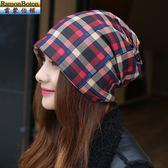 帽子女秋冬包頭帽加厚頭巾帽睡帽女韓版本套頭帽產後月子帽化療帽 聖誕禮物