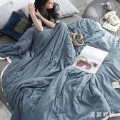 日式水洗棉夏被空調被夏涼被被單人雙人夏季薄款薄被子夏天 QQ26323『東京衣社』
