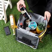 野餐包 保溫包袋保鮮冰包野餐包外賣餐包便當包可手提肩背野餐包  晶彩生活 晶彩生活