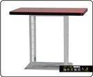 {{ 海中天休閒傢俱廣場 }} C-99 摩登時尚 餐桌系列 456-43 2X3.5尺美耐板餐桌/烤黑/烤銀腳(顏色可挑選)