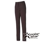 PolarStar 女 Soft Shell拼接保暖褲『綠卡其』P15408