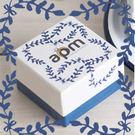 〔APM飾品〕自然色調湛藍歐風禮物盒(小) (長 x 寬 x 高 = 6.5 x 6.5 x 4.3 cm)