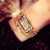 手錶女士 鑽精美高檔手鍊女錶 手鐲滿鑽奢華時尚潮流女手錶WY