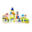 木製玩具 75顆城市積木