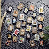美式復古漁網明信片墻壁裝飾品壁飾麻繩網格照片墻家居墻上掛飾 森活雜貨