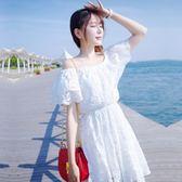 洋裝-情人節穿搭一字領優雅氣質夢幻蕾絲連身裙73ha16【巴黎精品】