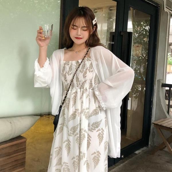 夏季新款收腰顯瘦碎花吊帶裙超仙雪紡連衣裙學生氣質仙女裙子 時尚芭莎