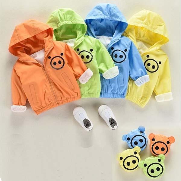 韓版兒童可收納風衣外套 童裝拉鍊外套 防曬連帽外套 卡通外套