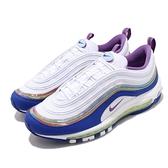 Nike 休閒鞋 Air Max 97 QS Easter 復活節 白 紫 男鞋 復古慢跑鞋 氣墊 運動鞋【ACS】 CJ0591-100