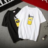 夏季ins短袖t恤男潮流嘻哈原宿港風學生半袖韓版寬鬆潮牌情侶上衣 降價兩天