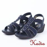 ★2018春夏新品★kadia.舒適牛皮涼鞋(8103-50藍)