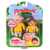 Monchhichi 夢奇奇 人偶公仔 LEAFY & SYLVUS 小飛&喜爺爺雙人組  【鯊玩具Toy Shark】