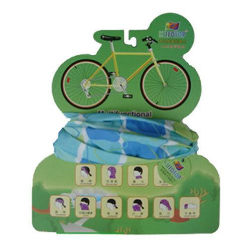 KUSOTOP台灣製魔術頭巾現代系列(藍綠)HW030