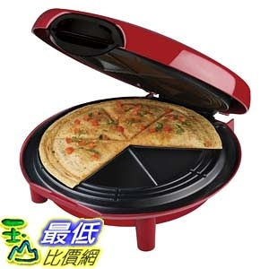 [104美國直購] George Foreman GFQ001 Quesadilla Maker, Red 玉米餅機