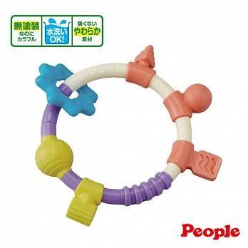 日本People 環狀手搖鈴咬舔玩具