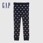 Gap女幼童 甜美風格織紋鬆緊休閒褲 599909-海軍藍