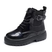 短靴 網紅增高瘦瘦馬丁靴女夏季款ins潮靴百搭復古英倫風短靴 晶彩