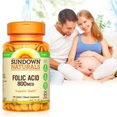 《Sundown日落恩賜》高單位葉酸800mcg錠(100錠/瓶)
