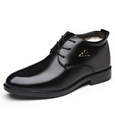 棉鞋男冬季保暖加絨加厚男鞋高筒男士爸爸棉皮鞋商務休閒老人棉鞋 【快速出貨】