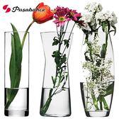 創意玻璃花瓶透明客廳百合插花瓶裝飾工藝品擺件   居家物語