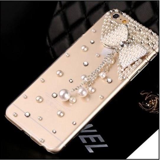 蘋果 IPhone7 6 6s 4.7 Plus SE 5 5S 珍珠蝴蝶結 水鑽殼 保護殼 貼鑽殼 珍珠 蝴蝶 水鑽手機殼