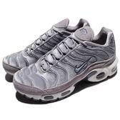 Nike 休閒慢跑鞋 Wmns Air Max Plus LX 灰 白 絨布 麂皮 熱帶魚 女鞋 氣墊 【PUMP306】 AH6788-001