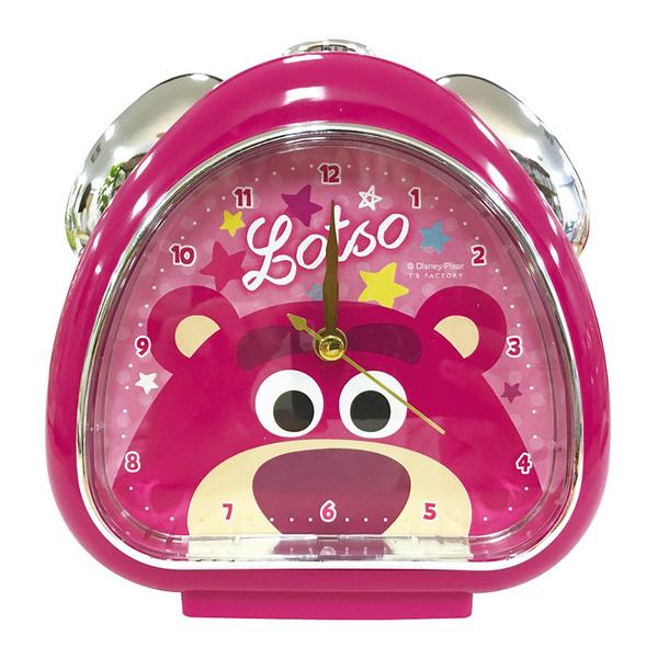 T'S FACTORY 三角飯糰造型鬧鐘 附夜燈功能 桌鐘 時鐘 迪士尼 熊抱哥 大臉 桃_CY09988