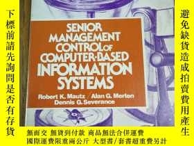 二手書博民逛書店SENIOR罕見MANAGEMENT CONTROL OF CO