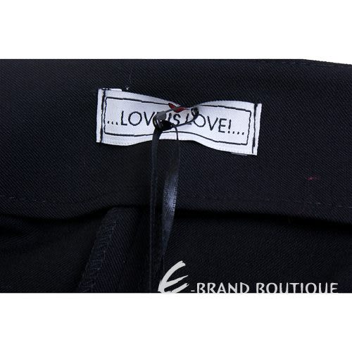Love Sex Money-LOVE IS LOVE 黑色抓褶短褲 1220583-01