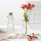 居家家歐式透明玻璃花瓶客廳插花擺件落地大號水培干花飾品玻璃瓶 LJ5192【極致男人】