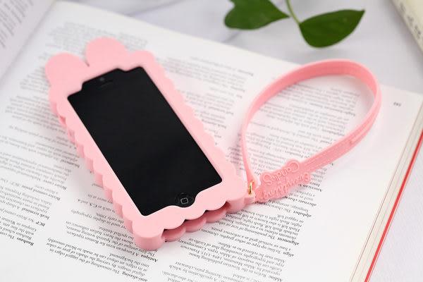 iphone 5 免運 潮物Candies/cliche 蘋果IPhone5手機套 矽膠套眼鏡妹 小白兔保護套