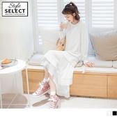 《KG0922-》高含棉不規則百褶拼接蛋糕裙洋裝 OB嚴選