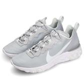 【六折特賣】Nike Wmns React Element 55 灰 白 緩震回彈 女鞋 男鞋 運動鞋【ACS】 BQ2728-005