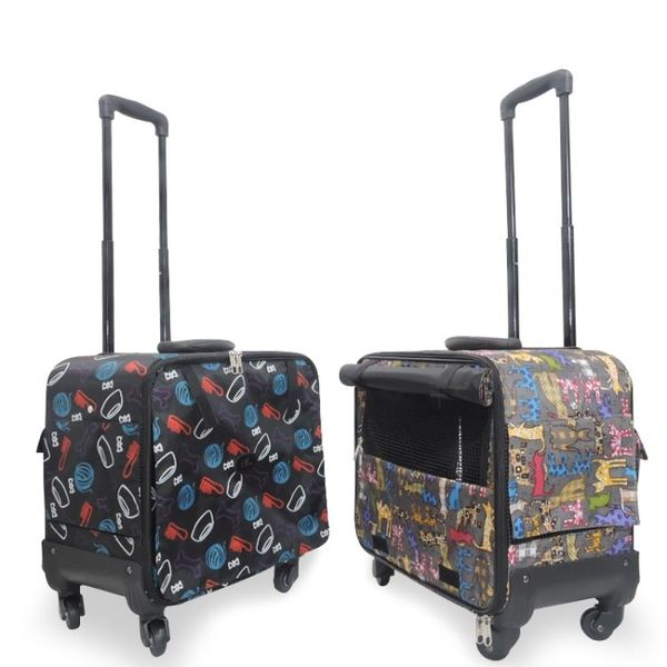 寵物背包 手提寵物拉桿箱犬貓外出便攜包拉桿箱包旅行