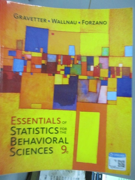 【書寶二手書T7/大學商學_QDD】Essentials of Statistics for the Behaviora